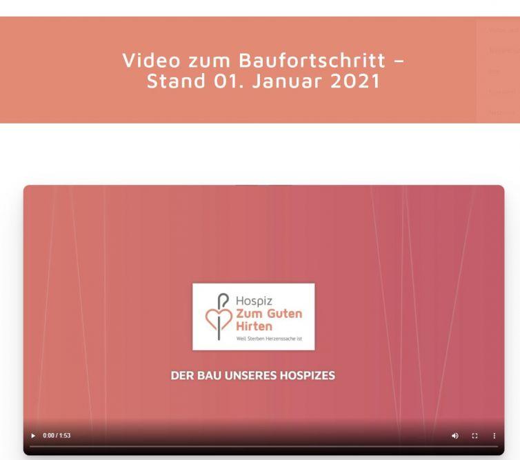 Video Baufortschritt